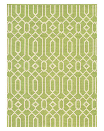"Geometric Twist Indoor/Outdoor Rug, 8'6"" x 13'"