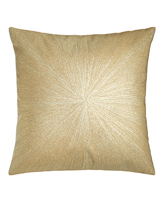 "Metallic Nimbus Pillow, 20""Sq."