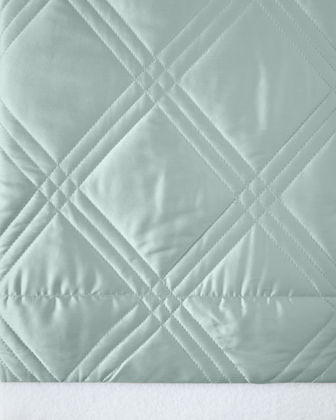 Windowpane King Coverlet