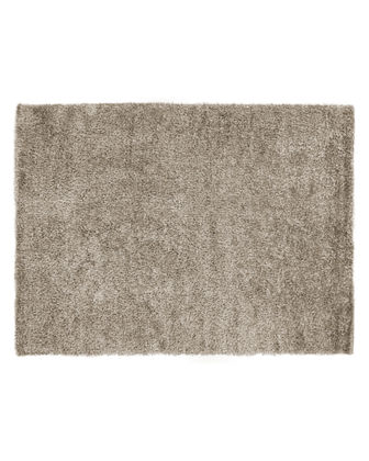 Neutral Shag Rug, 4' x 6'