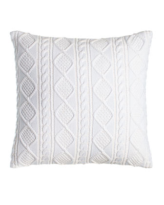 "Judson Cable-Knit Pillow, 20""Sq."