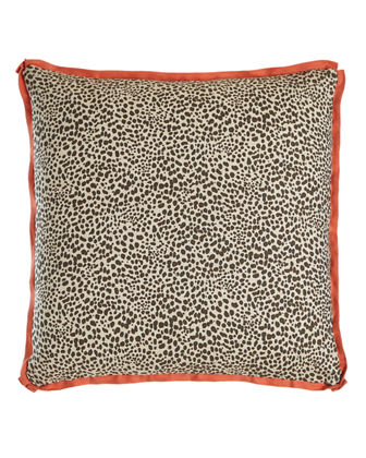 "Animal-Print Pillow, 20""Sq."