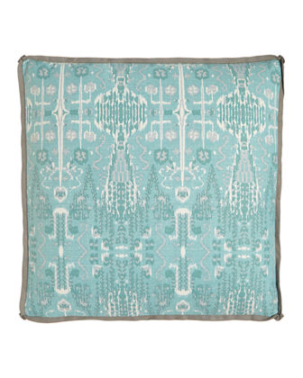"Bombay Ikat Pillow, 24""Sq."