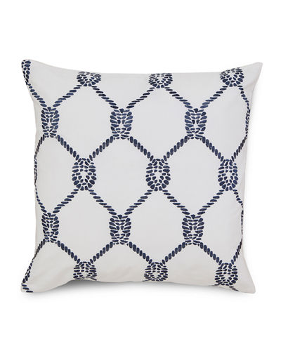 Breakwater Embroidered Rope Pillow, 16