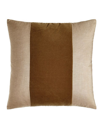 "Franklin Velvet-Band Pillow, 22""Sq."