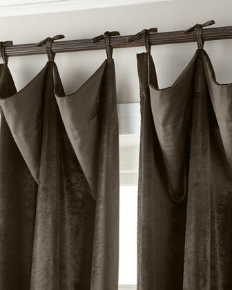 "132""L Tie-Top Velvet Curtain"