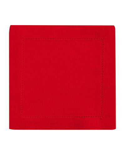 Hemstitched Cocktail Napkins, Set of 6