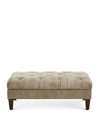 Fontaine Tufted Storage Ottoman