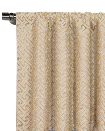"Roscoe Rod Pocket Curtain Panel, 108""L"