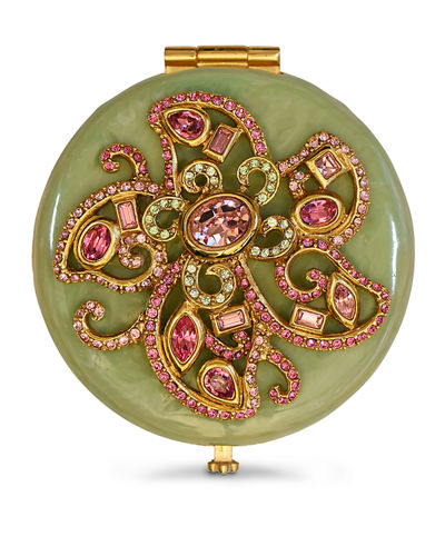 Flower Jeweled Compact