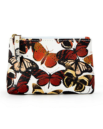 Personalized Butterfly-Print Cosmetic Case