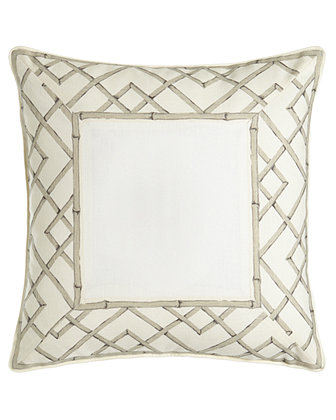 "20""Sq. Lattice Pillow, Monogrammed"