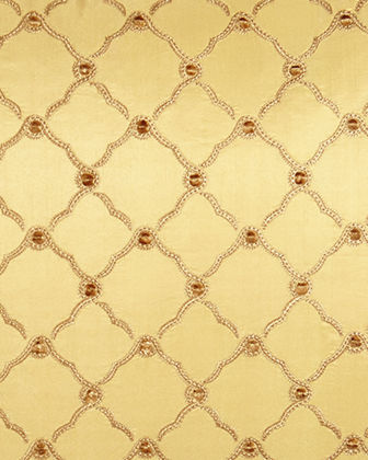 Tuscan Trellis King Sham with Cord Trim