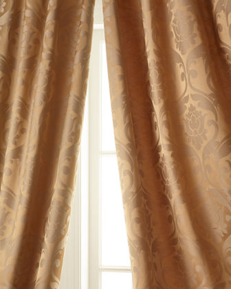 "Each Charleston Damask Curtain, 52""W x 96""L"
