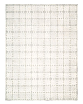 Derby Woven Leather Rug, 4' x 6'