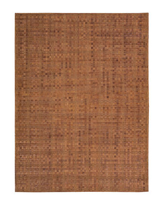 Derby Woven Leather Rug  5'3 x 7'5