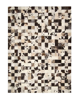 NourCouture Medley Hairhide Rug, 8' x 11'