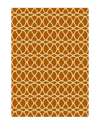"Baja Circles Indoor/Outdoor Rug, 2'3"" x 4'6"""