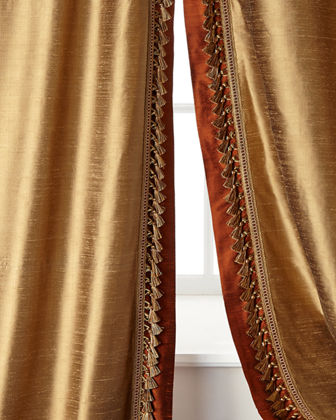 Two 52W x 96L Villa Di Como Curtains