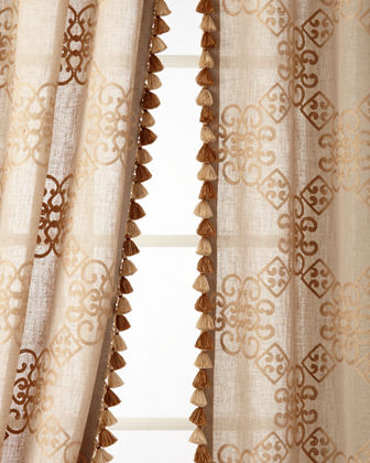 Two 53W x 96L Stockholm Curtains