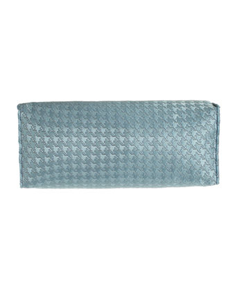 "Houndstooth Check Neck Roll Pillow, 6"" x 19"""
