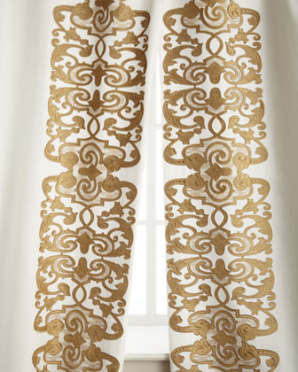 "Two 120""L Mozart Curtains"