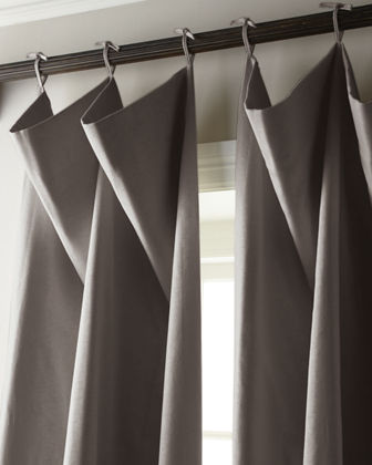 "Each 120""L Tie-Top Curtain"