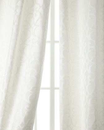 "Two 108""L Gatework Curtains"