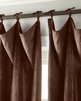 108L Tie-Top Velvet Curtain
