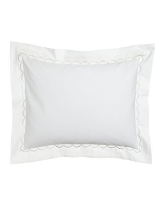 Standard Scallops Embroidered Sham
