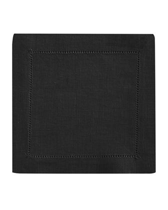 Hemstitch Cocktail Napkins, Set of 6