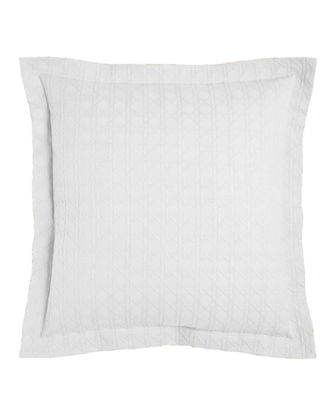 European Marcus Collection Cane Matelasse Sham