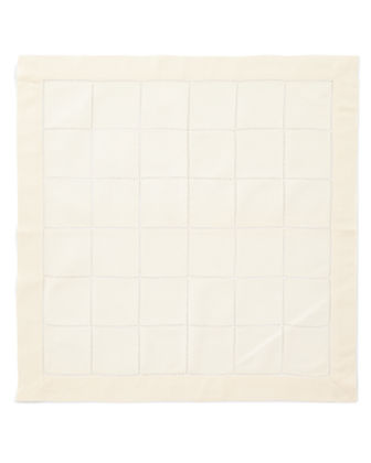 Block Hemstitch Napkins, Set of 4