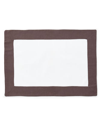 Boutross Imports Color Border Hemstitch Placemats, Set of