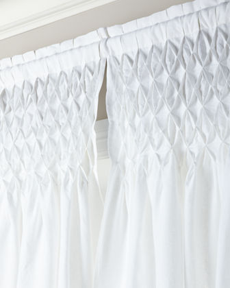 Each 42W x 96L Smocked Linen Curtain