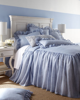 "30""L King Savannah Skirted Coverlet"