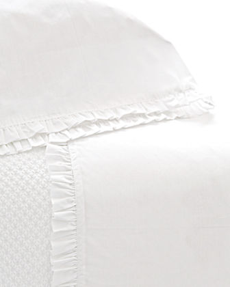 Two Standard 200 Thread-Count Classic Ruffle Pillowcases