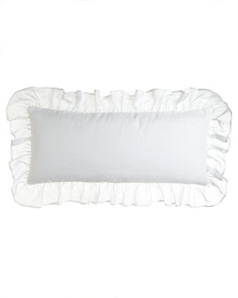 "Savannah Ruffled Double Boudoir Pillow, 15"" x 35"""