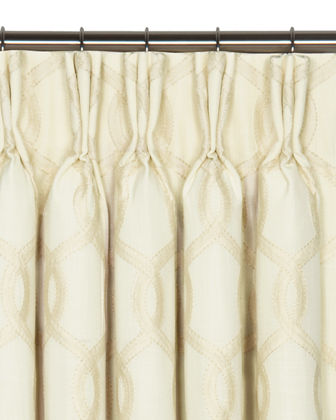 "Gresham Pinch Pleat Curtain Panel, 108""L"