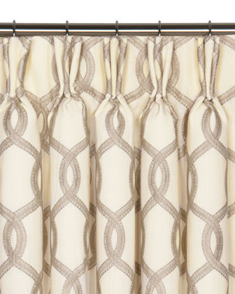 Gresham Pinch Pleat Curtain Panel  108L