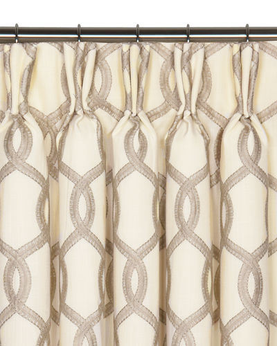 Pinch Pleat Imported Curtain Horchow