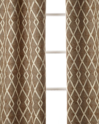 "Argyle Curtain, 96""L"