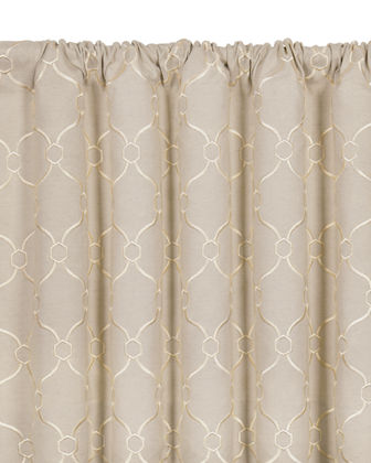 "Theodore Rod Pocket Curtain Panel, 108""L"