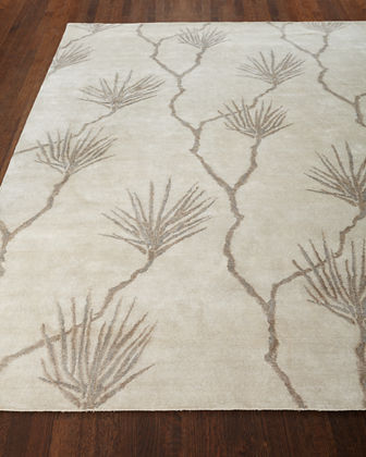 Exquisite Rugs Palm Hand-Knotted Rug, 12' x 15'