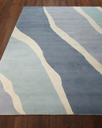 Ocean Waves Hand-Tufted Rug, 9' x 12'