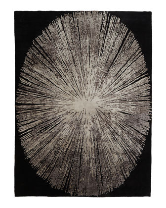 Cosmopolitan Noir Hand-Knotted Rug, 10' x 14'