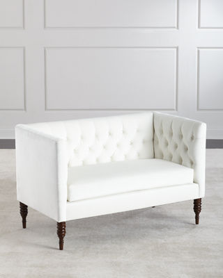 Settee Tufted Furniture   Horchow.com