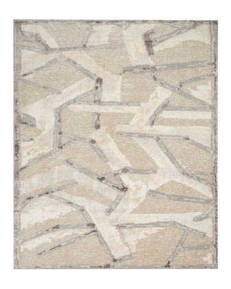 Chemin Misted Morning Hand-Knotted Rug, 10' x 14'