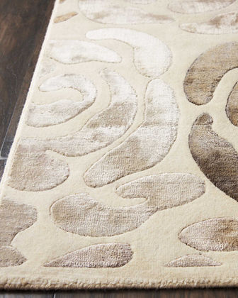 Fleurs Hand-Knotted Rug, 9' x 12'