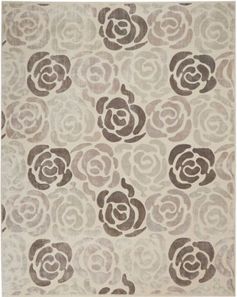 Fleurs Hand-Knotted Rug, 10' x 14'